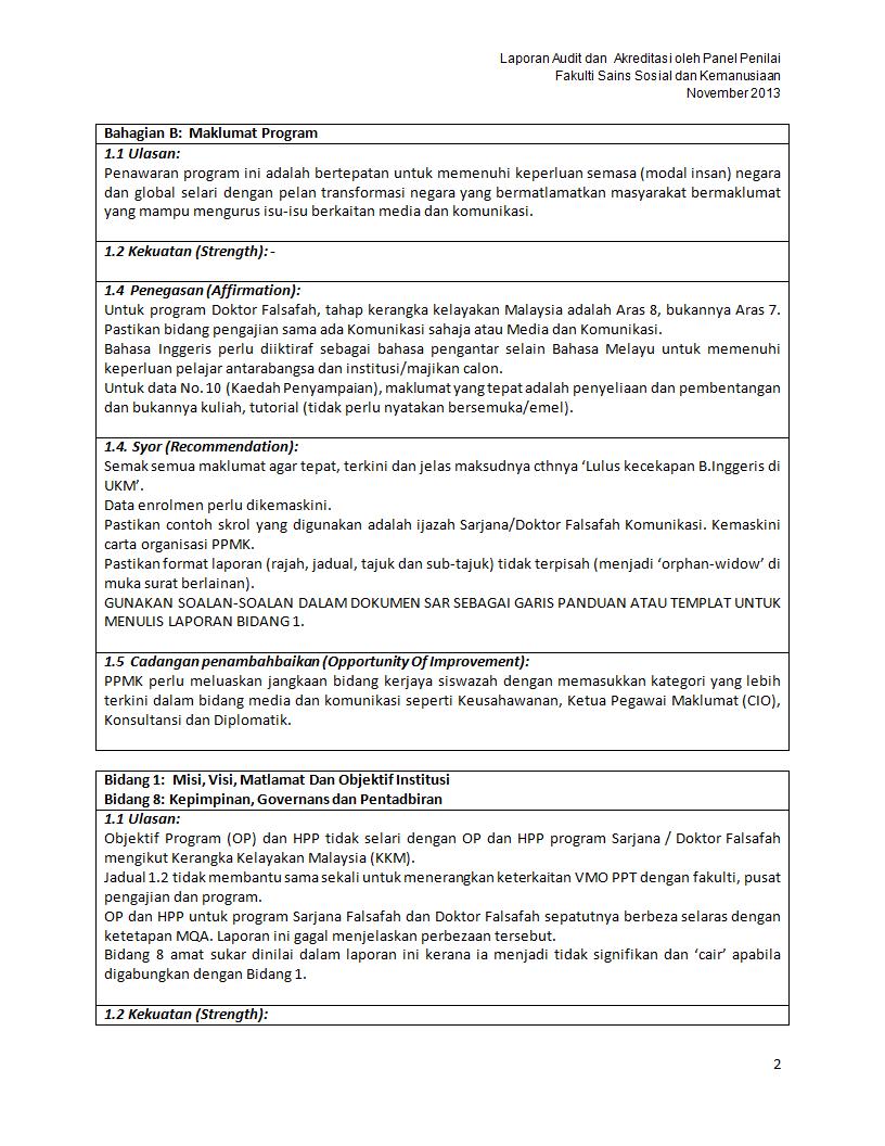 Format Laporan Penilaian Program Siswazah Mphil Doc
