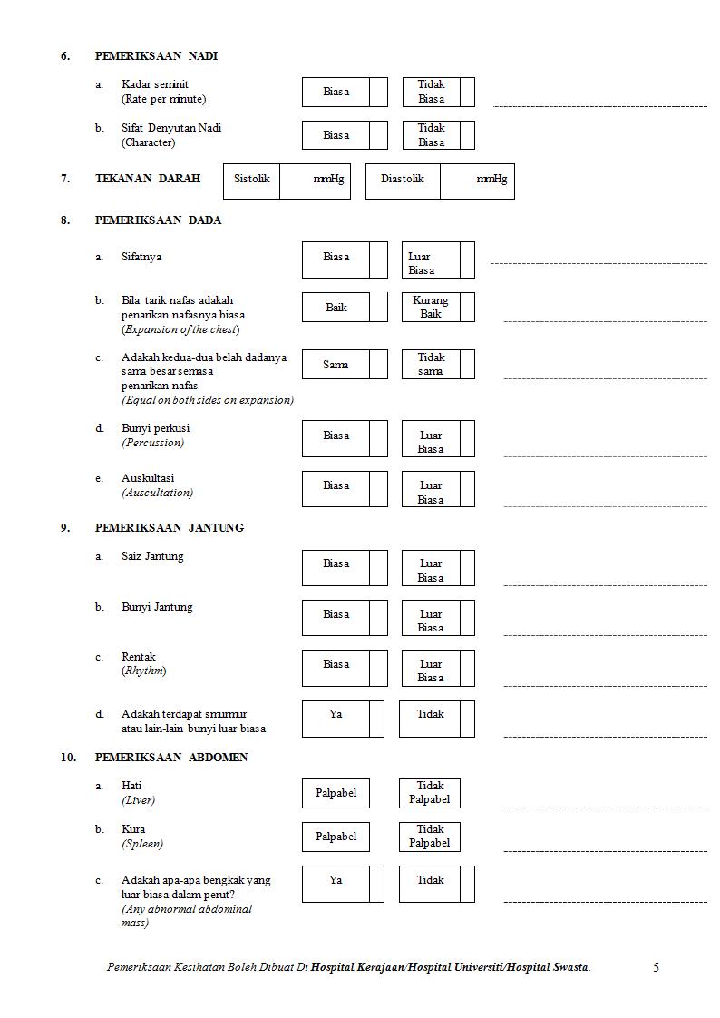 Ukm Spkp Jp Pk01 Bo07 Laporan Pemeriksaan Kesihatan Doc